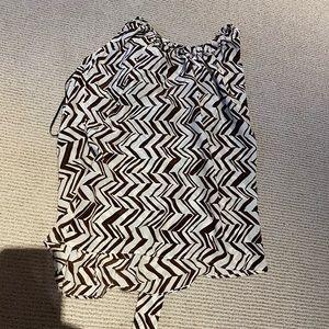 Marni at H&M Brown Pattern Halter Blouse